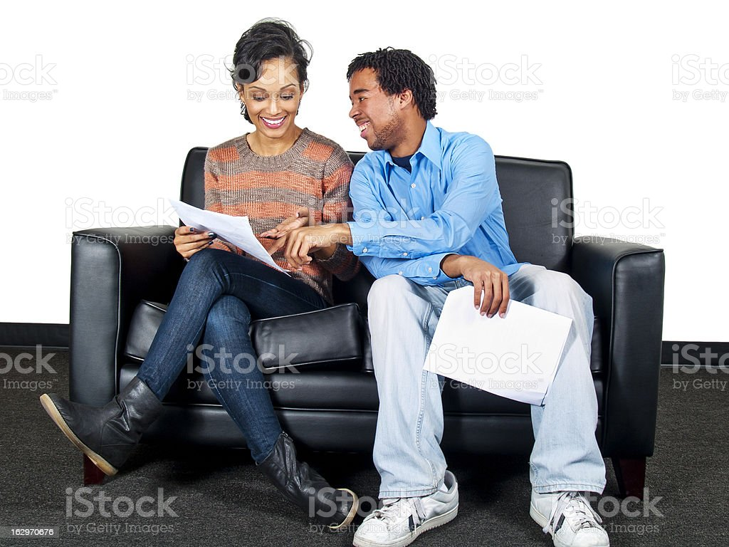 Actors in a Casting Session Audition or Job Interview royalty-free stock photo