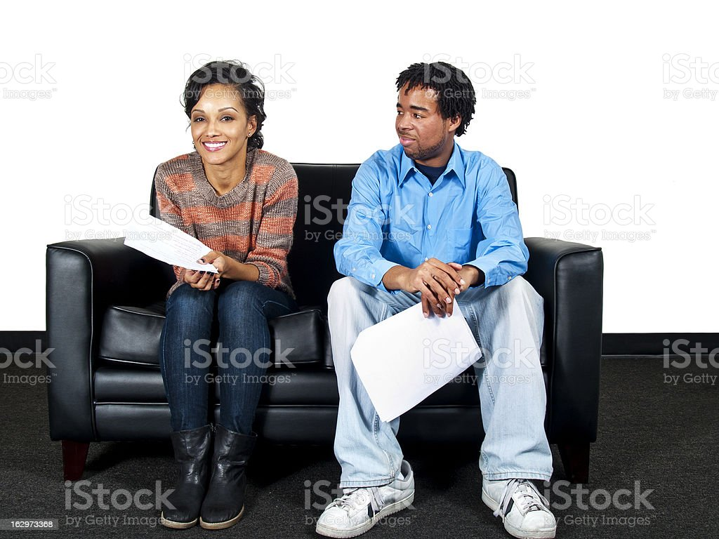 Actors in a Casting Session Audition or Job Interview stock photo
