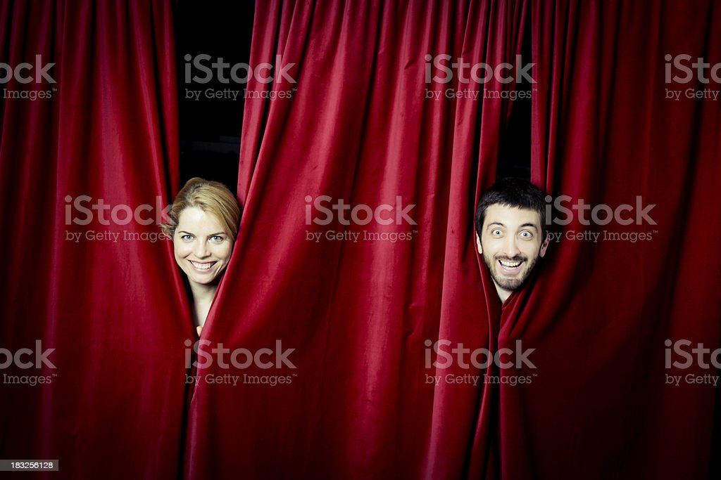 Actors on stage royalty-free stock photo