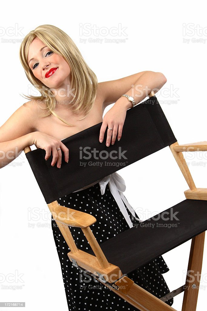 Actress By Directors Chair royalty-free stock photo