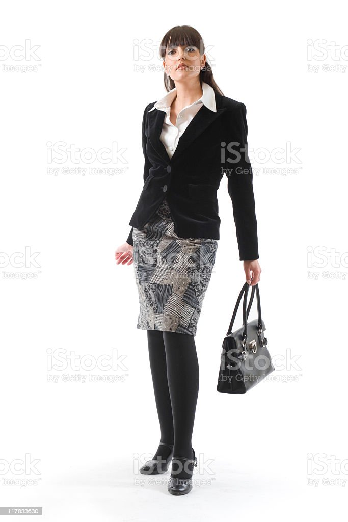 Acttractive businesswoman royalty-free stock photo