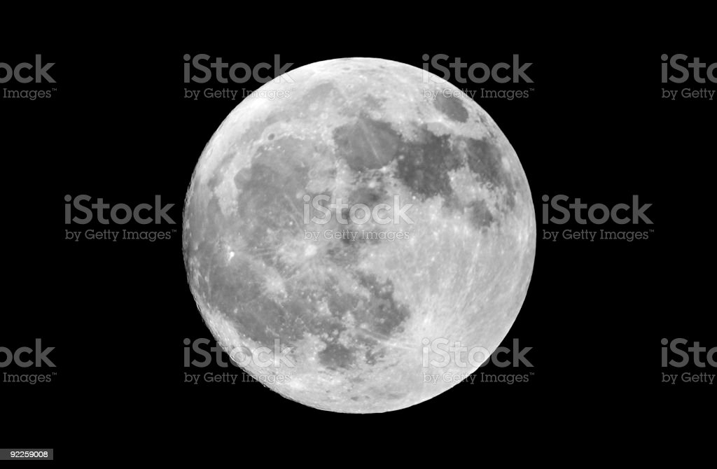 Actual High Resolution Full Moon royalty-free stock photo