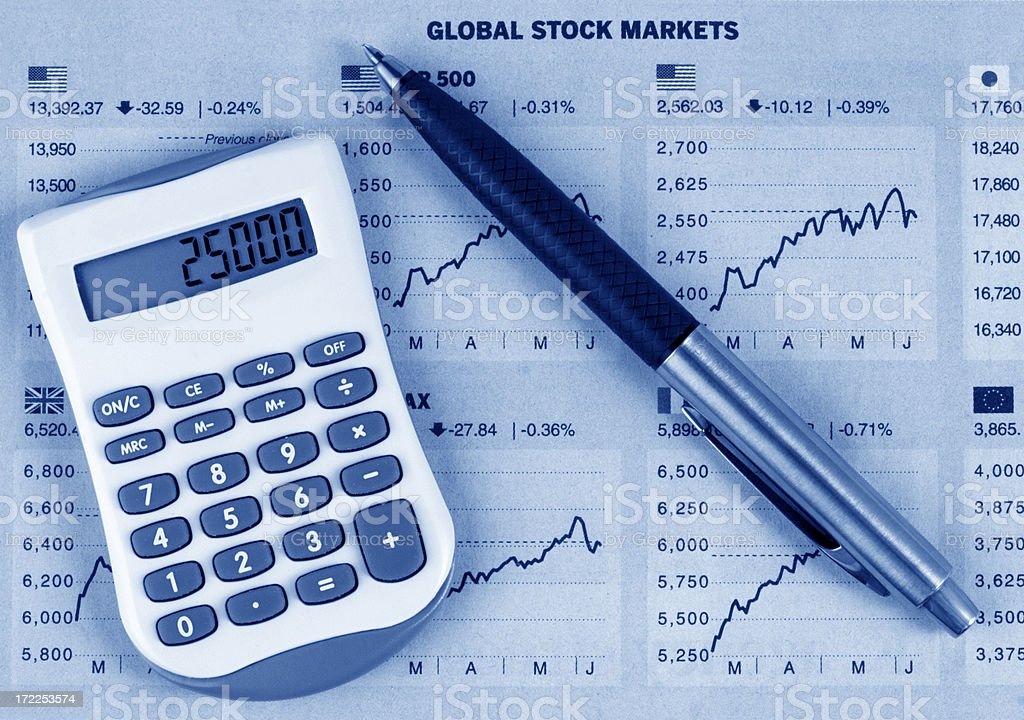 Actual Stock Markets royalty-free stock photo