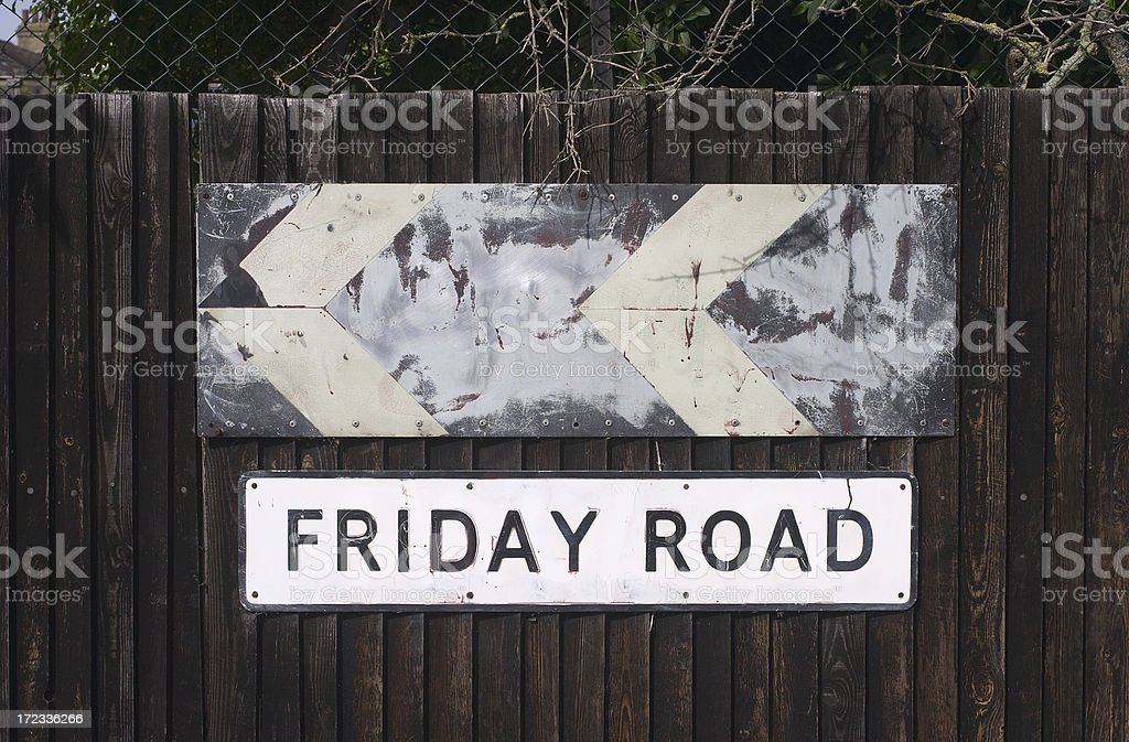 This way to Friday and the weekend royalty-free stock photo