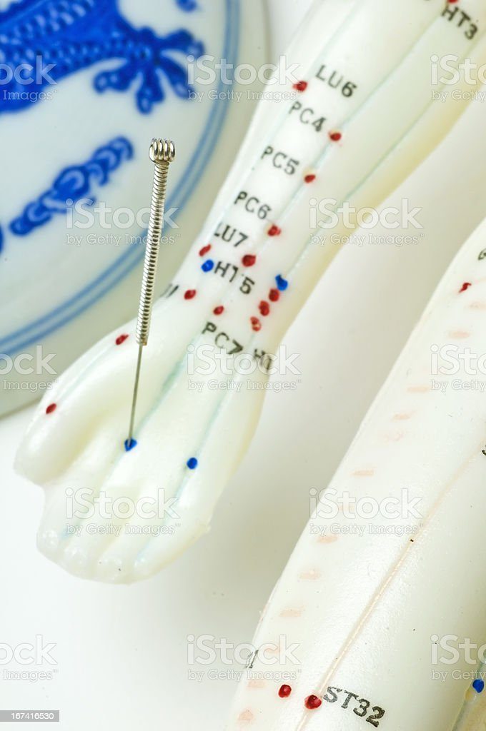 acupuncture demonstration royalty-free stock photo