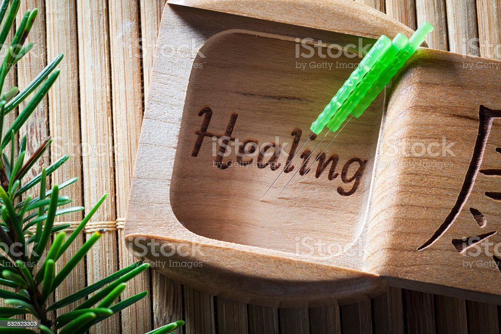 Acupuncture Healing stock photo