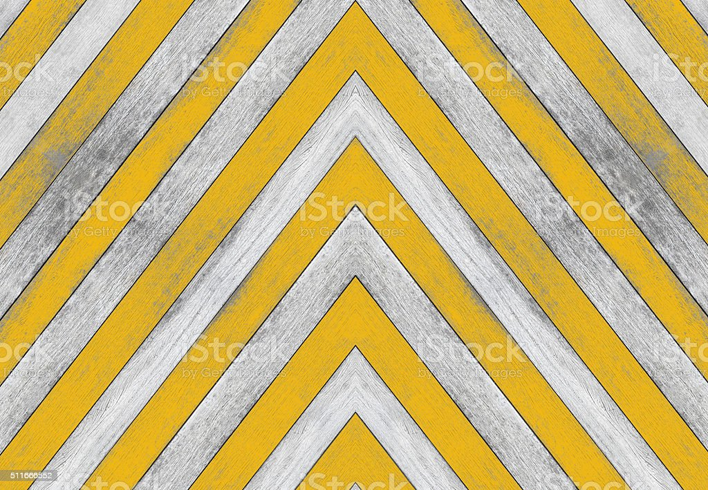 Acute angle, old white and yellow wood texture stock photo