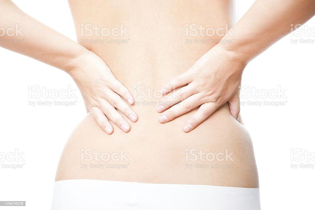 Acute back pain stock photo