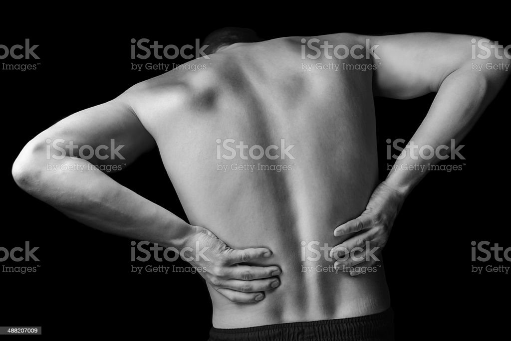 Acute backache stock photo