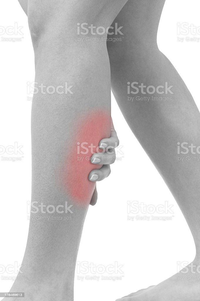 Acute pain in a woman sword royalty-free stock photo
