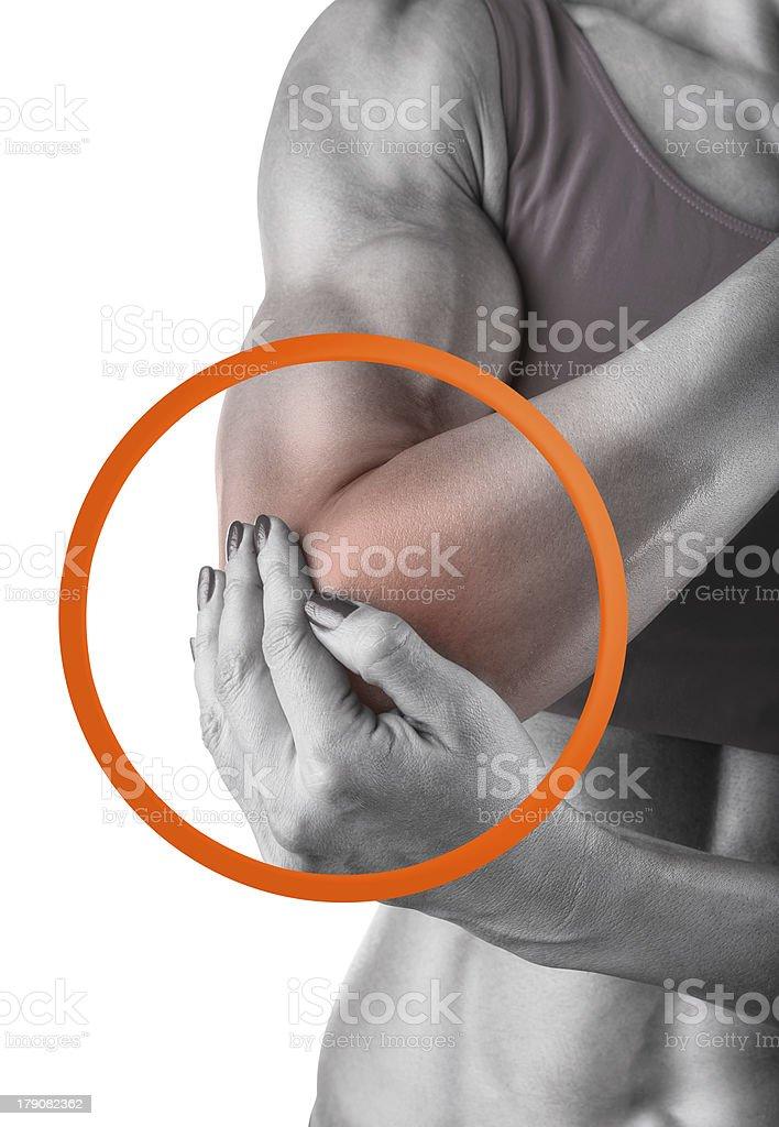 Acute pain royalty-free stock photo
