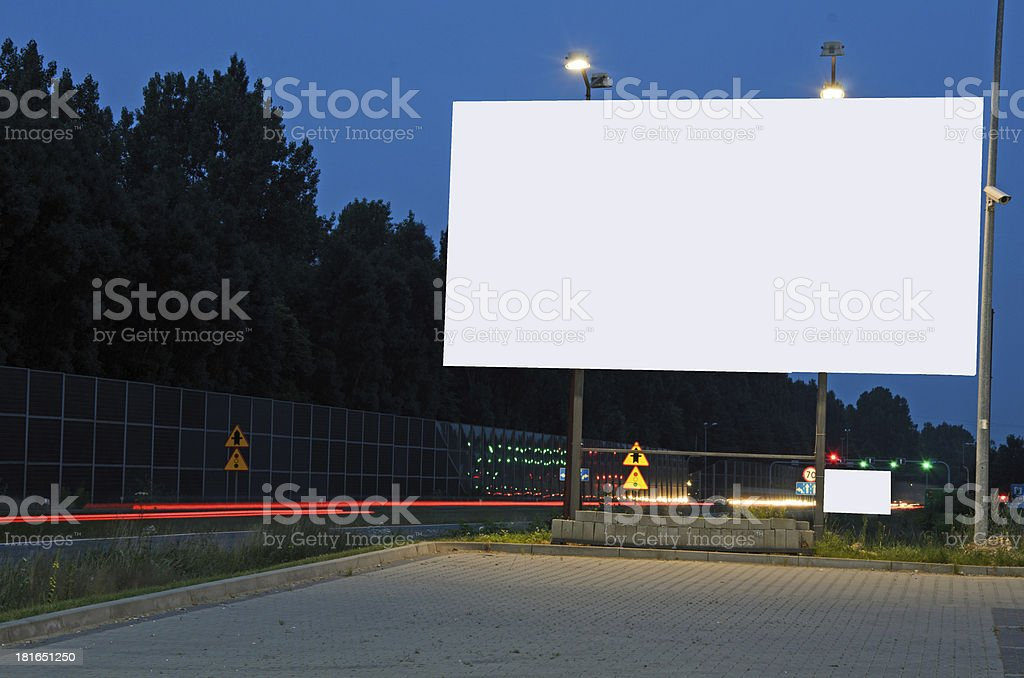 Ad bilboard in a city royalty-free stock photo