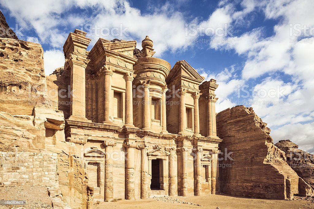 Ad Deir ( The Monastery ) - Petra / Jordan stock photo