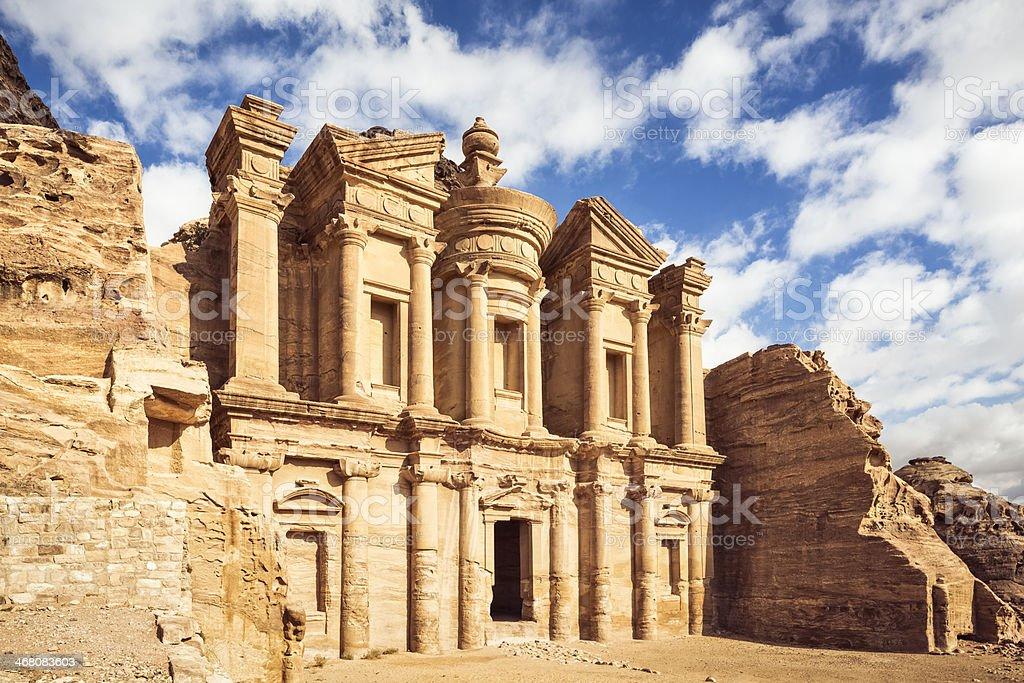 Ad Deir ( The Monastery ) - Petra / Jordan stock photo