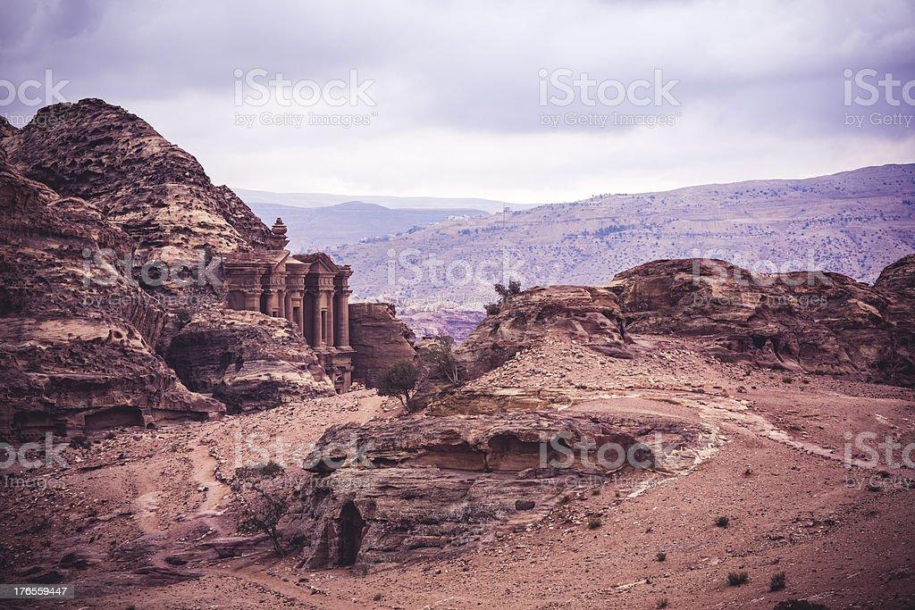 Ad Deir 'The Monastery' - Jordan royalty-free stock photo