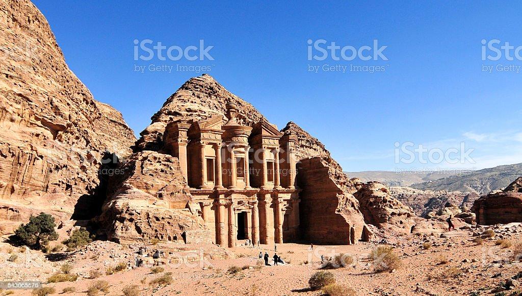 Ad Deir, The Monastery Temple, Petra, Jordan stock photo