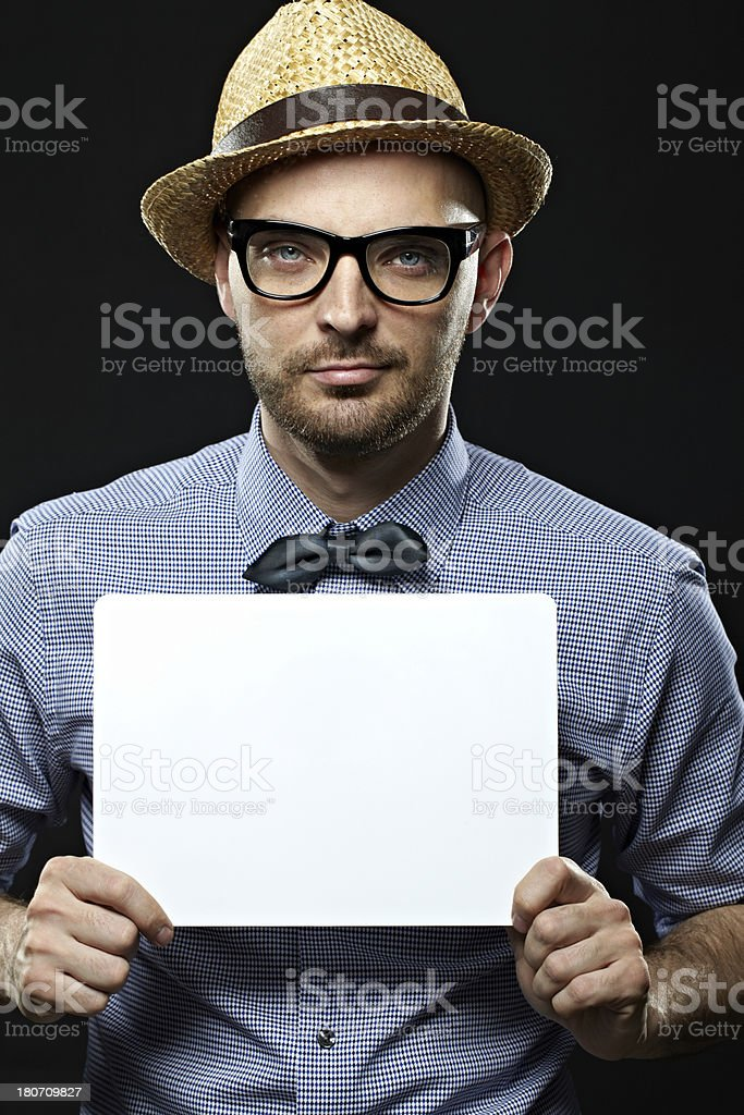 Ad message royalty-free stock photo