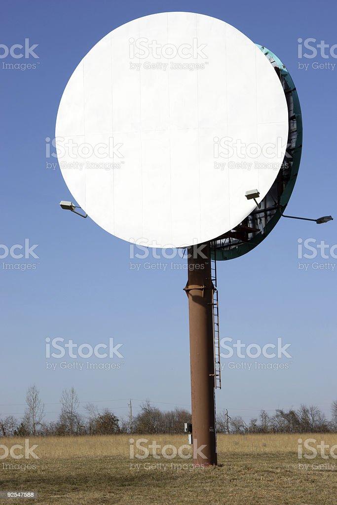 ad scenes - blank round billboard royalty-free stock photo