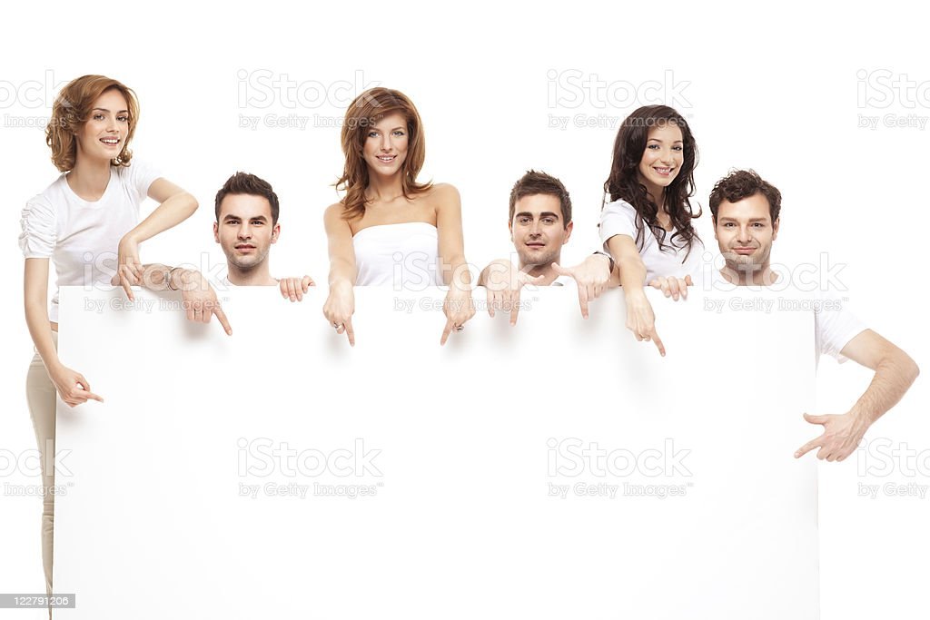 ad smiling happy friends royalty-free stock photo