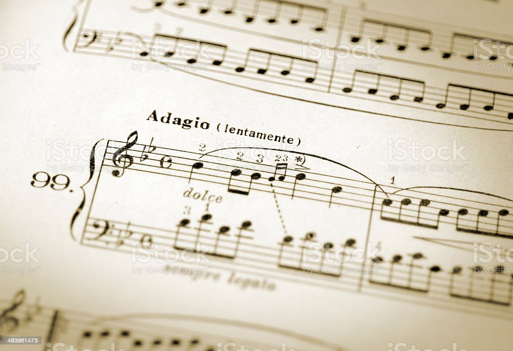 adagio classical slow tempo royalty-free stock photo