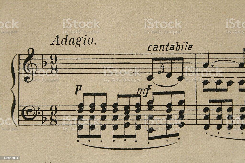 Adagio stock photo