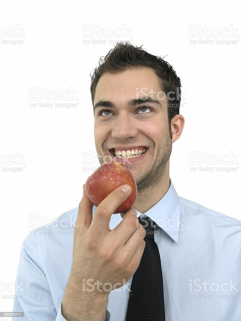 Adam and Apple royalty-free stock photo