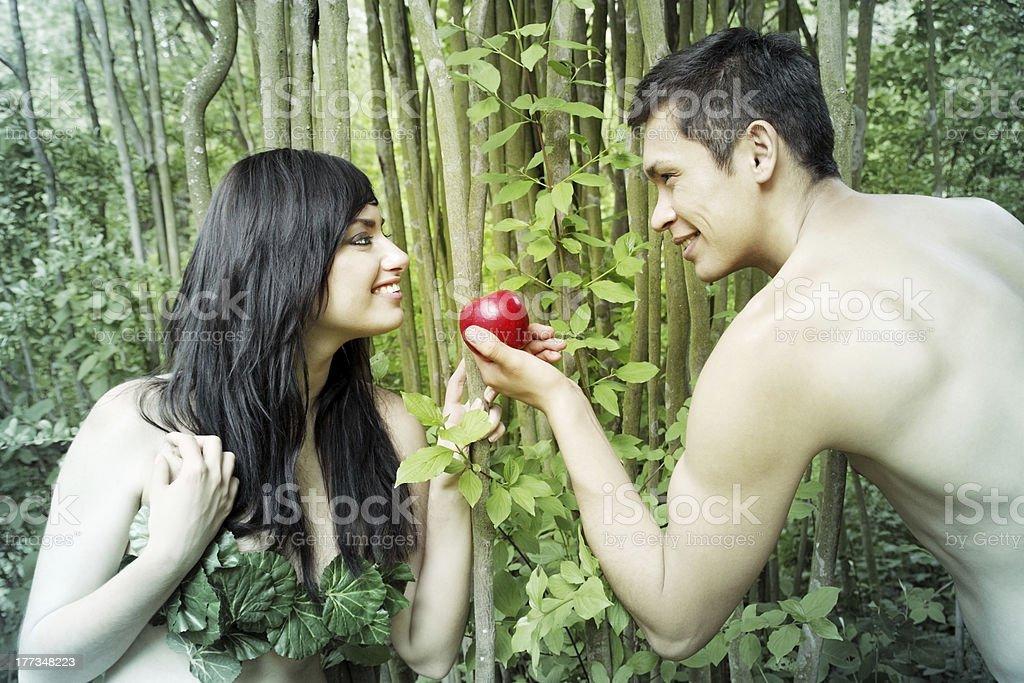 Adam,  Eve stock photo