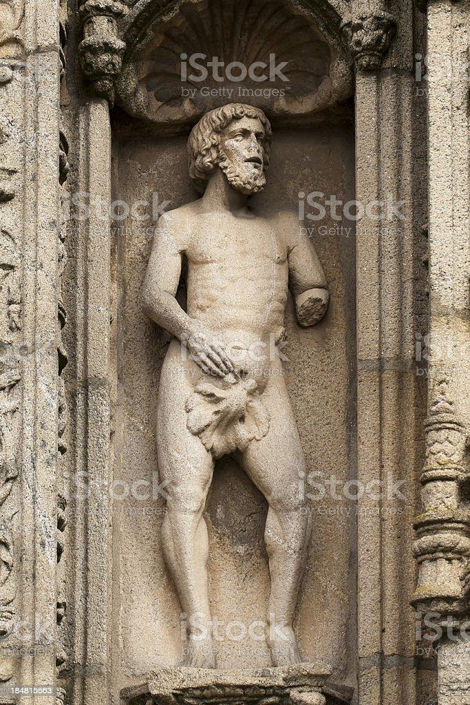 Adam on stone royalty-free stock photo