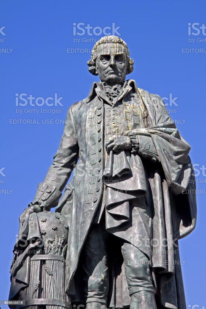 Royal Mile, Edinburgh, Scotland - June 23, 2009: Adam Smith Monument stock photo
