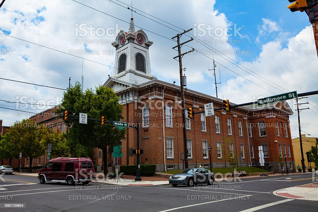 Adams County Courthouse stock photo