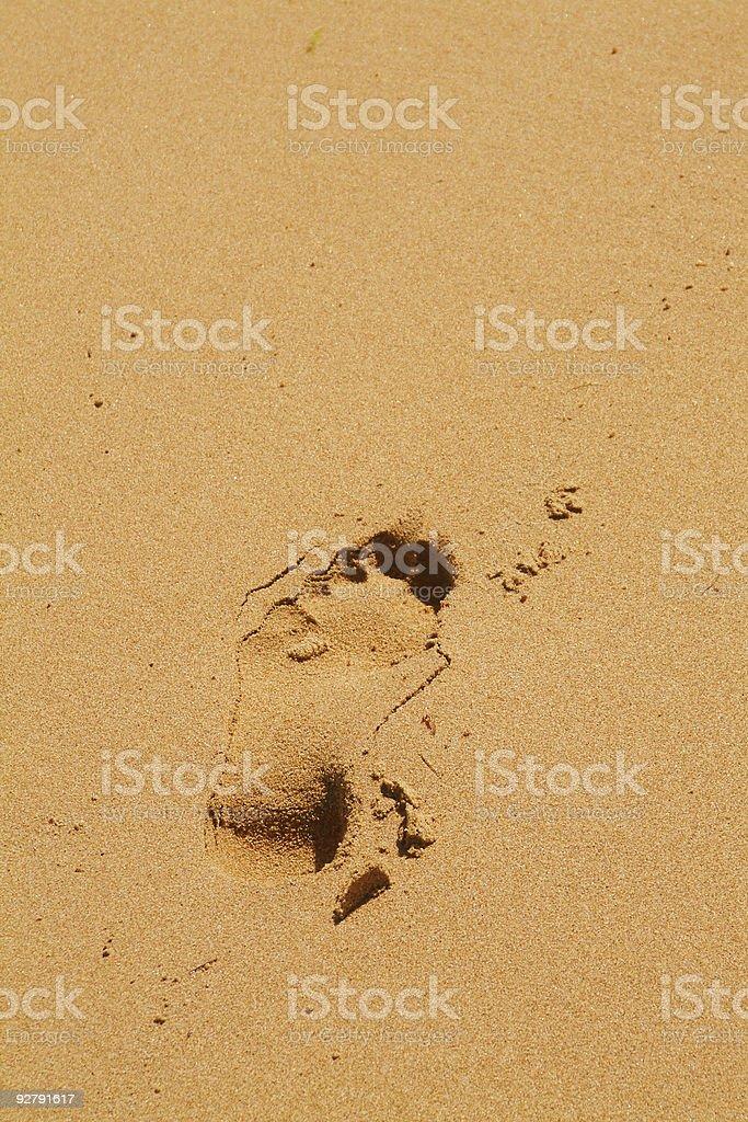 Adams Footprint stock photo