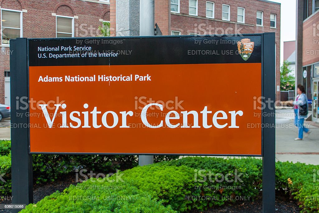Adams National Historical Park stock photo