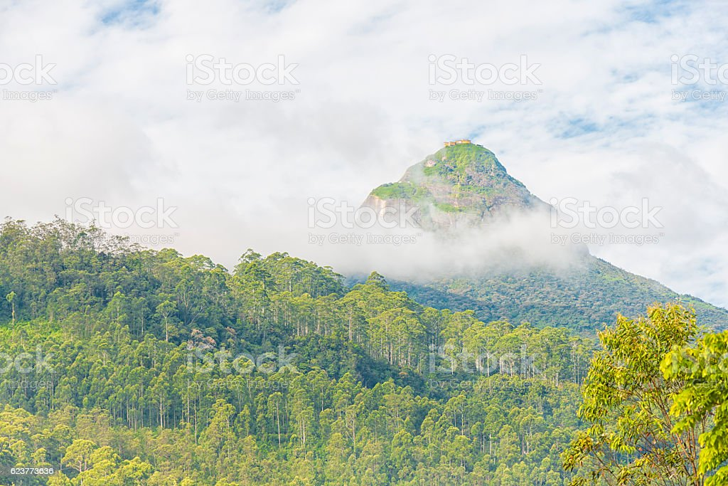 Adam's Peak in Sriu Lanka stock photo