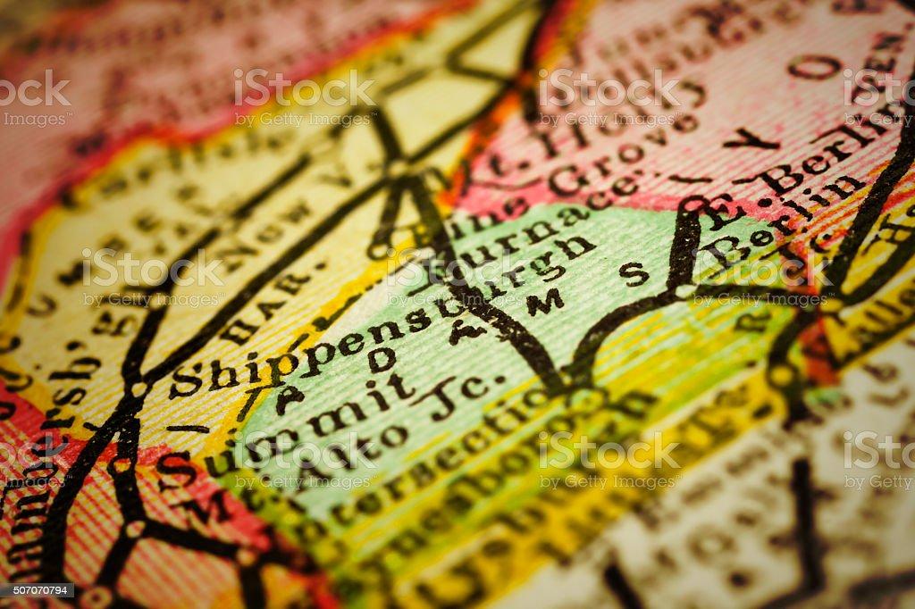 Adams | Pennsylvania County Maps stock photo