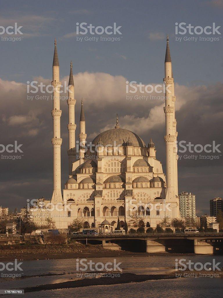 Adana Mosque at sunrise royalty-free stock photo