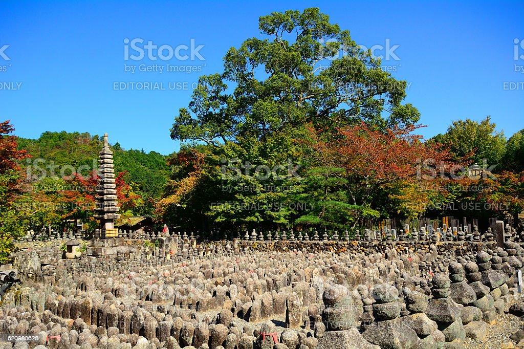 Adashi Nenbutsu Buddhist temple, Kyoto, Japan stock photo