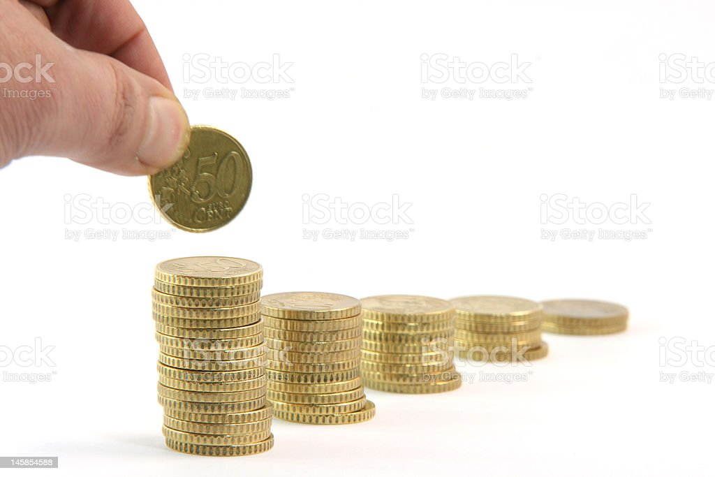 add a coin royalty-free stock photo