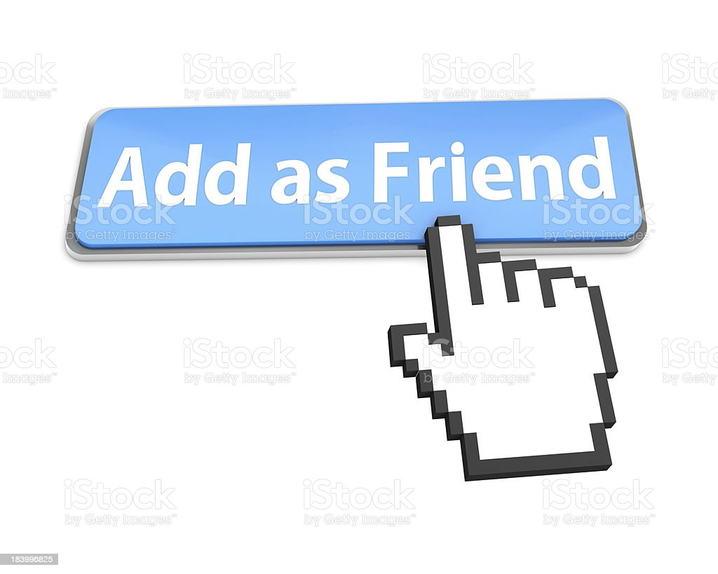 Add as friend button royalty-free stock photo