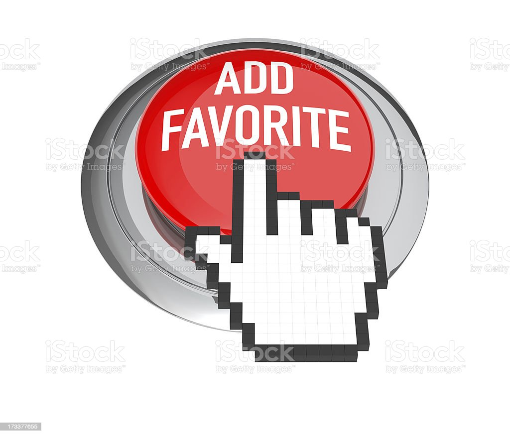 Add Favorite Button royalty-free stock photo