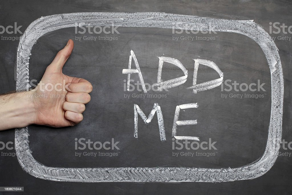 Add me royalty-free stock photo