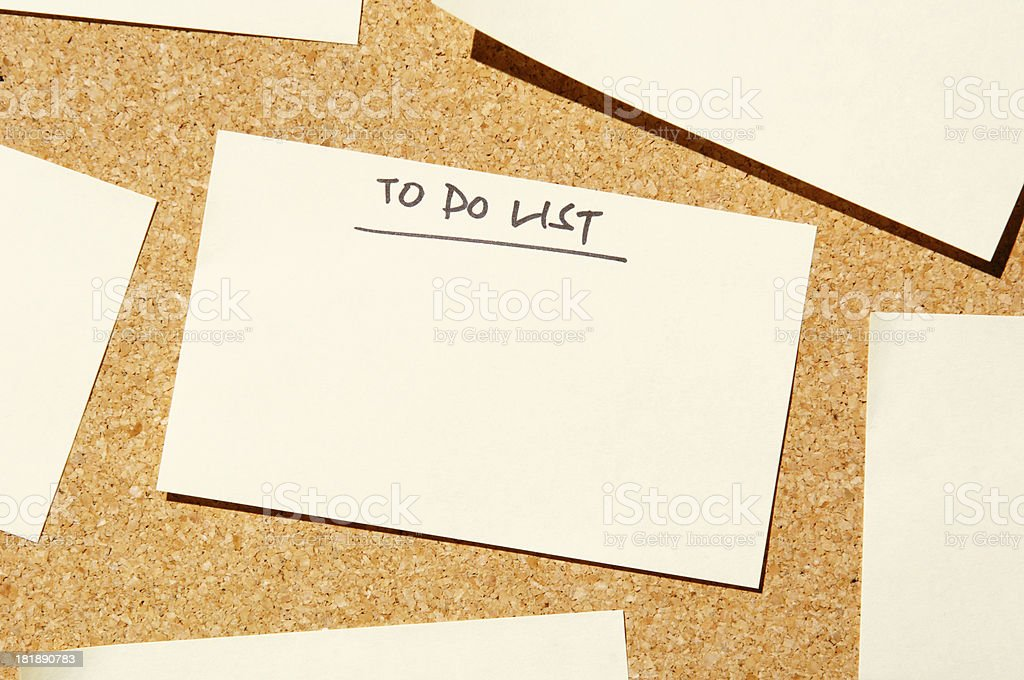 add text to do list post it royalty-free stock photo