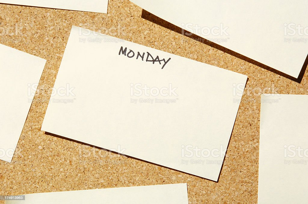 add text to monday post it royalty-free stock photo
