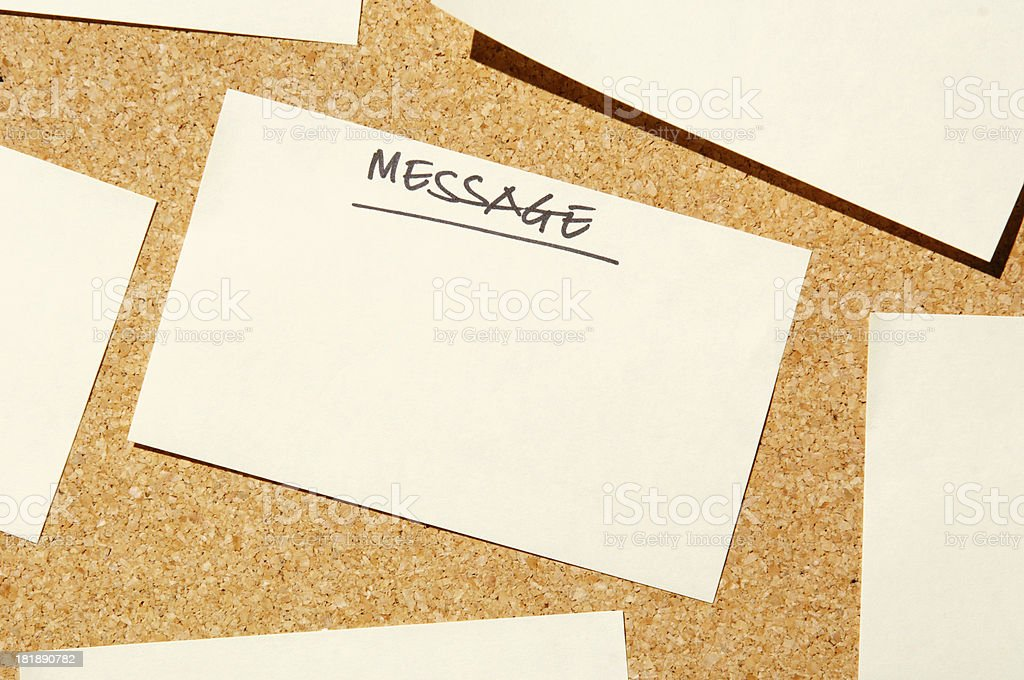 add text to post it message royalty-free stock photo