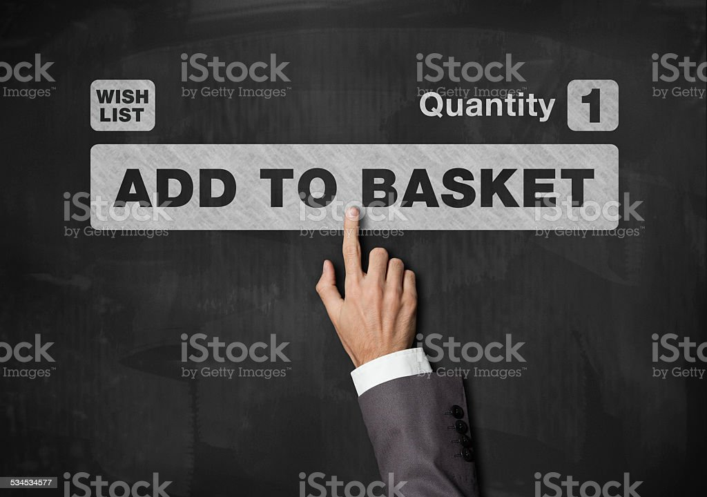Add to basket / Blackboard concept (Click for more) stock photo