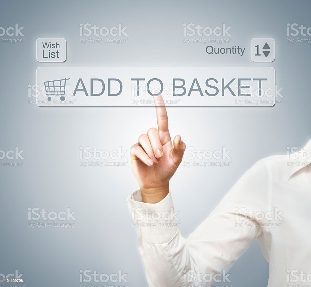 Add to basket / touch screen concept (Click for more) stock photo