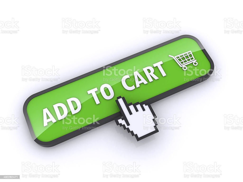 add to cart button royalty-free stock photo
