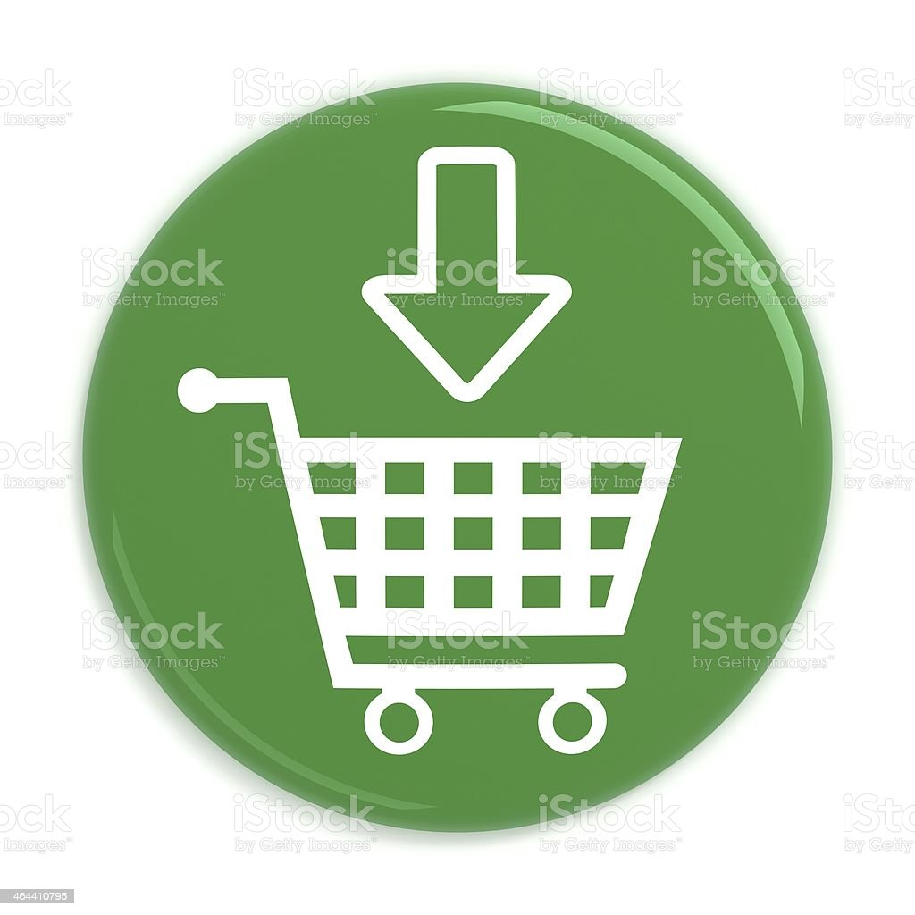 Add to cart button with shopping cart stock photo