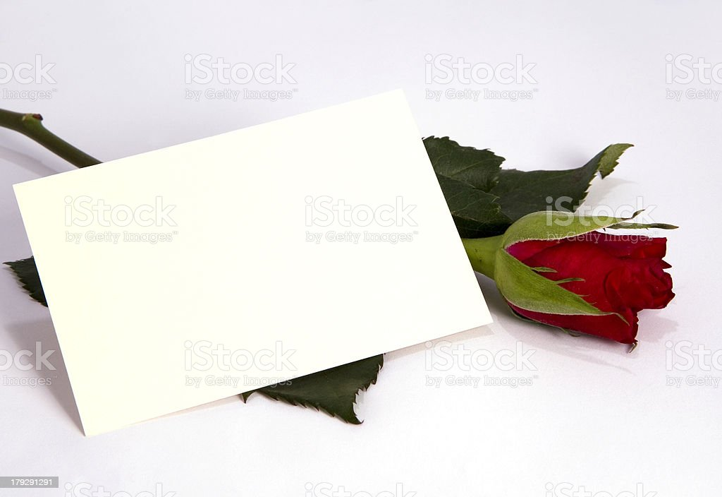 Add Your Message - Blank Card stock photo