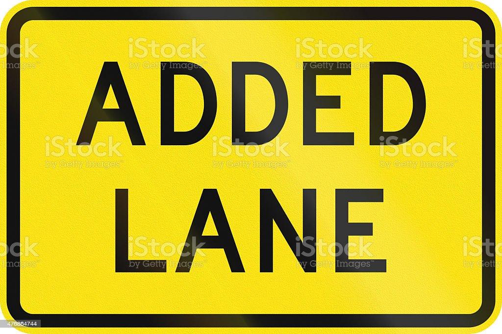 Added Lane in Australia stock photo