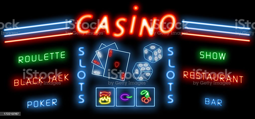 Addict casino (Roulette, Black Jack...) stock photo